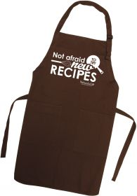 """Not Afraid To Try New Recipes"" Apron"