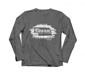 """Once A Nebraskan"" Gray Long-sleeve T-Shirt"