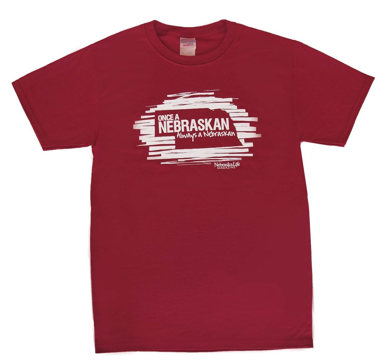 """""""Once A Nebraskan"""" Red Short-sleeve T-Shirt"""